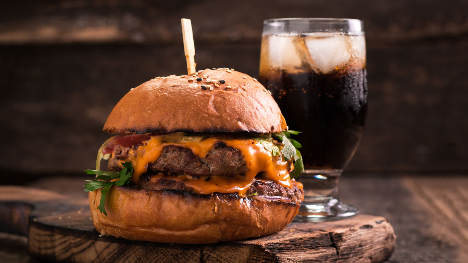 soda pairings burger and fries with soda