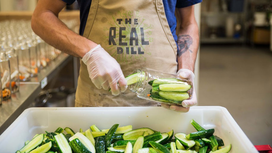 inside look of the real dill zero food waste achievement