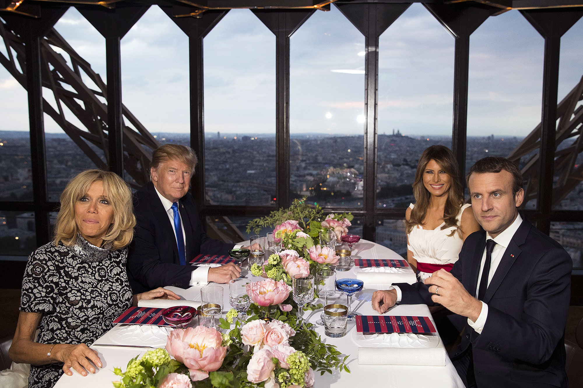 Here's What President Trump and Emanuel Macron Ate at the Michelin-Starred Restaurant Inside the Eiffel Tower