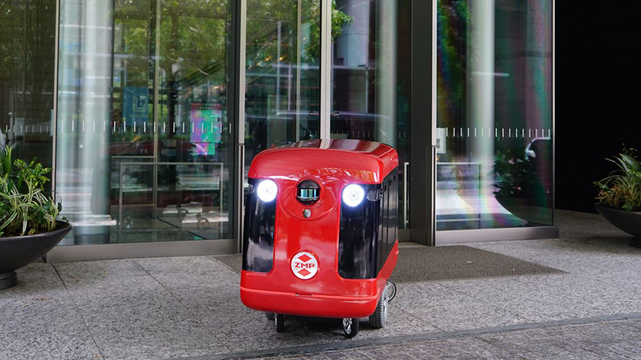 sushi delivery robot in japan