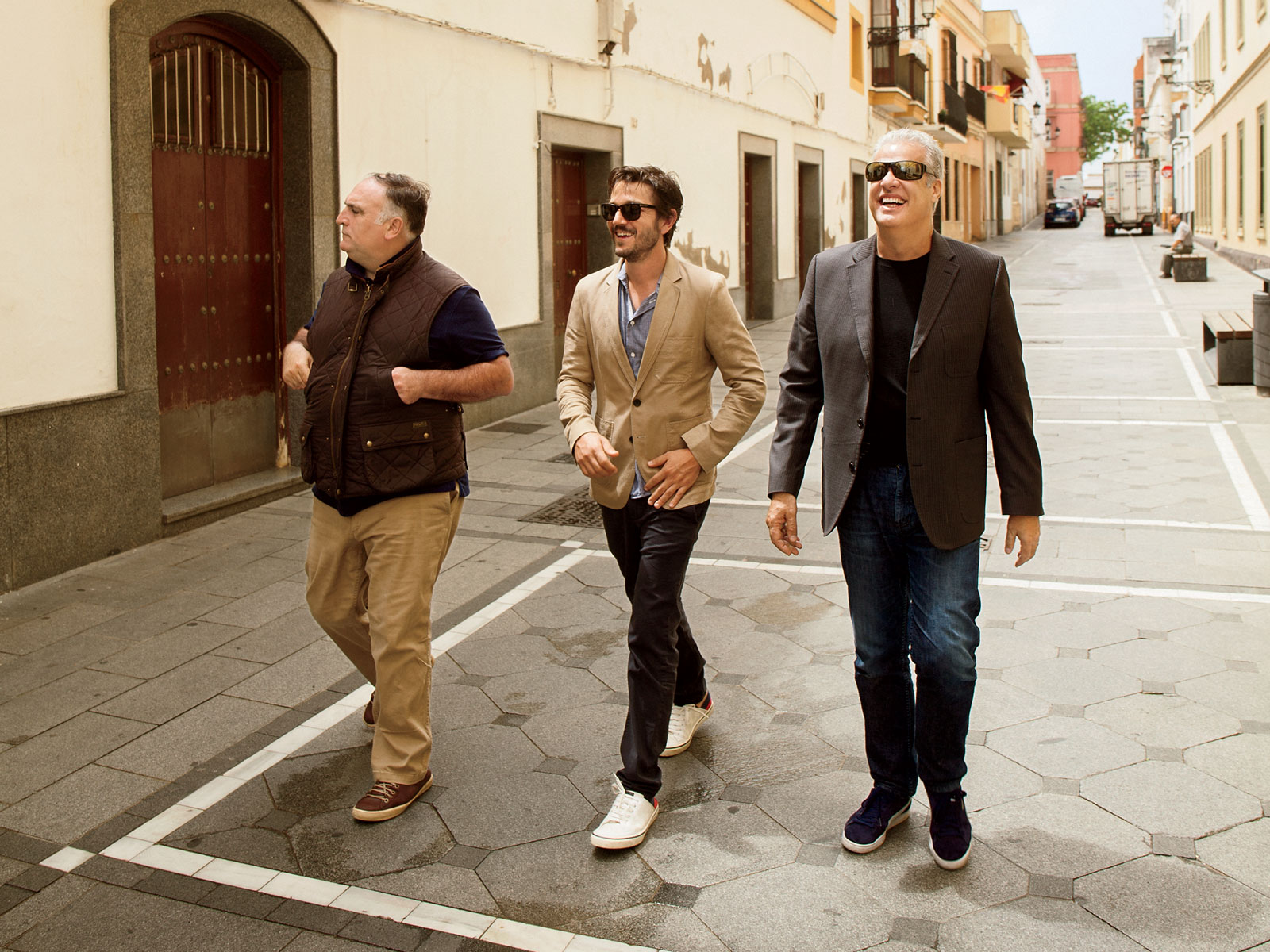 Eric Ripert, Diego Luna, and Jose Andres
