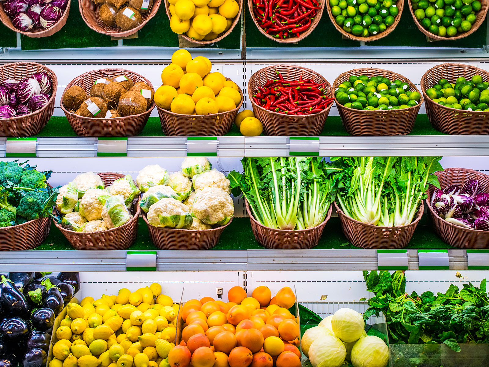 attractive produce aisle in grocery stores