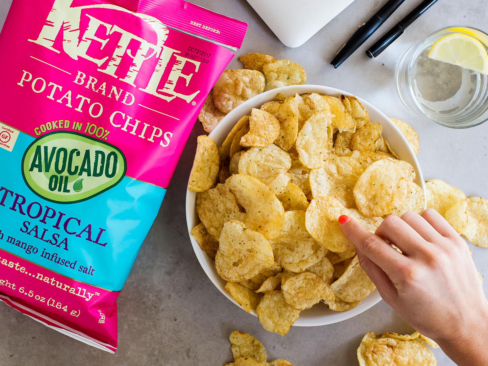 kettle krinkle cut chips avocado salsa