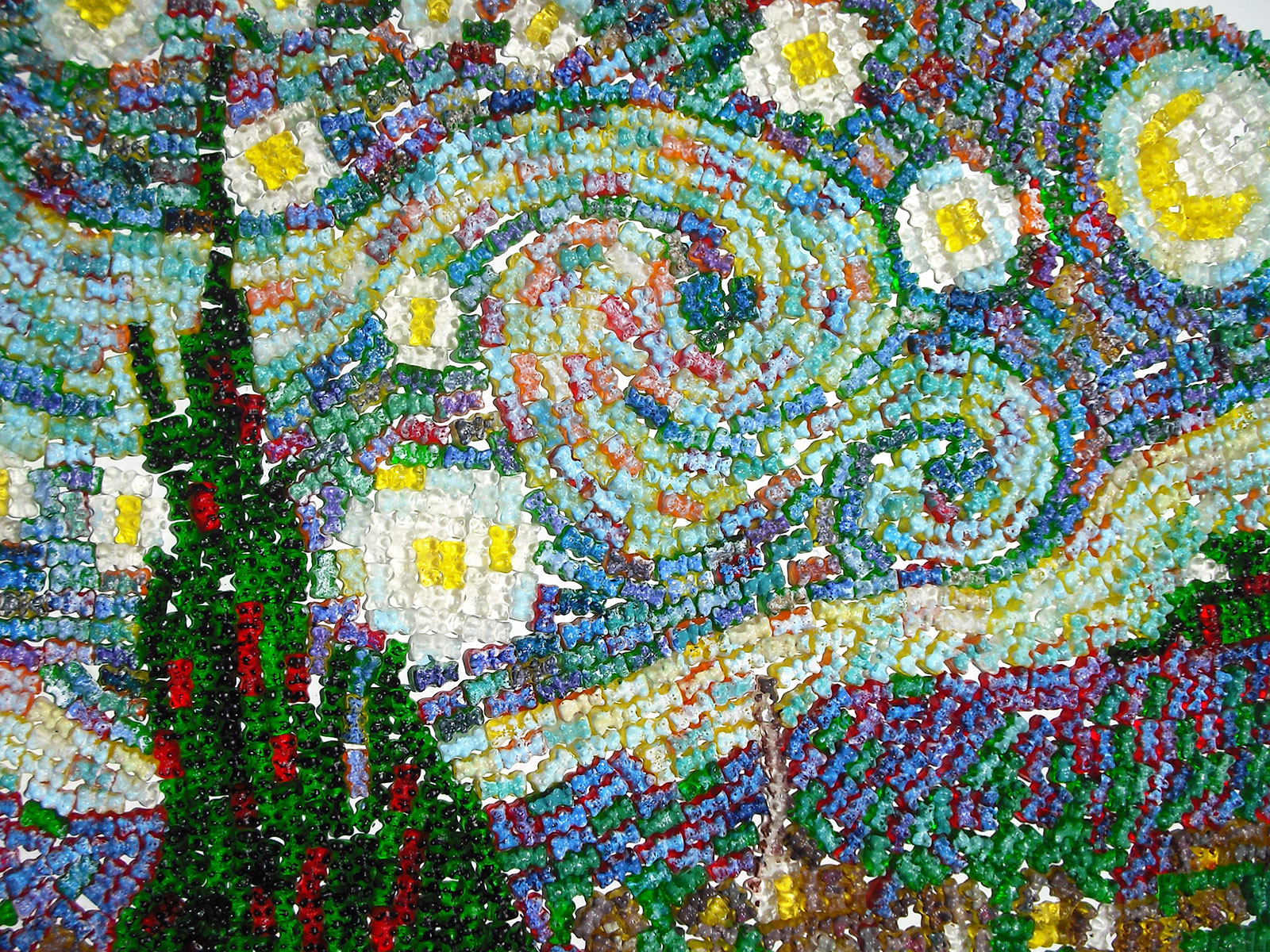 starry night made with gummy bears