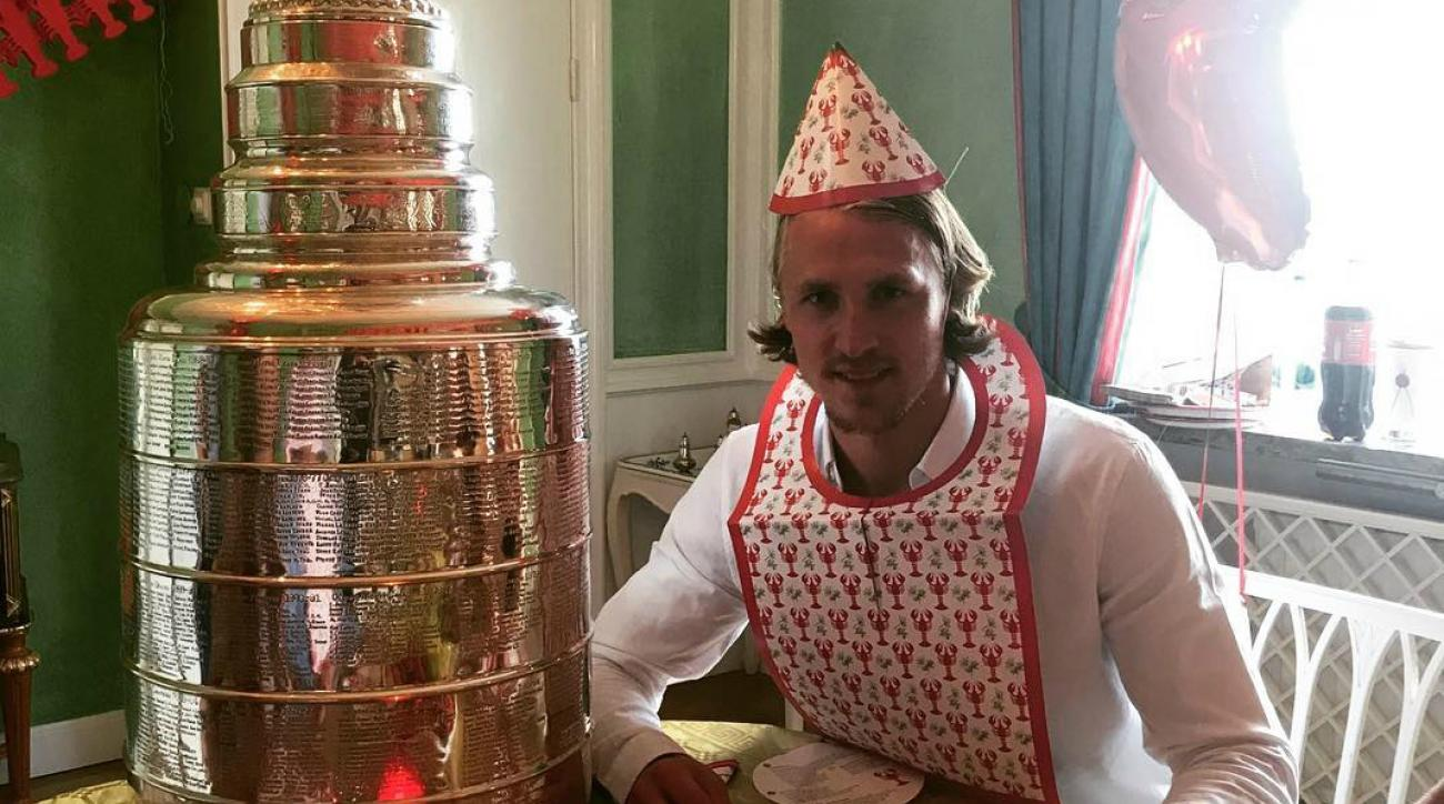 Carl Hagelin Threw a Traditional Swedish Crayfish Party With the Stanley Cup