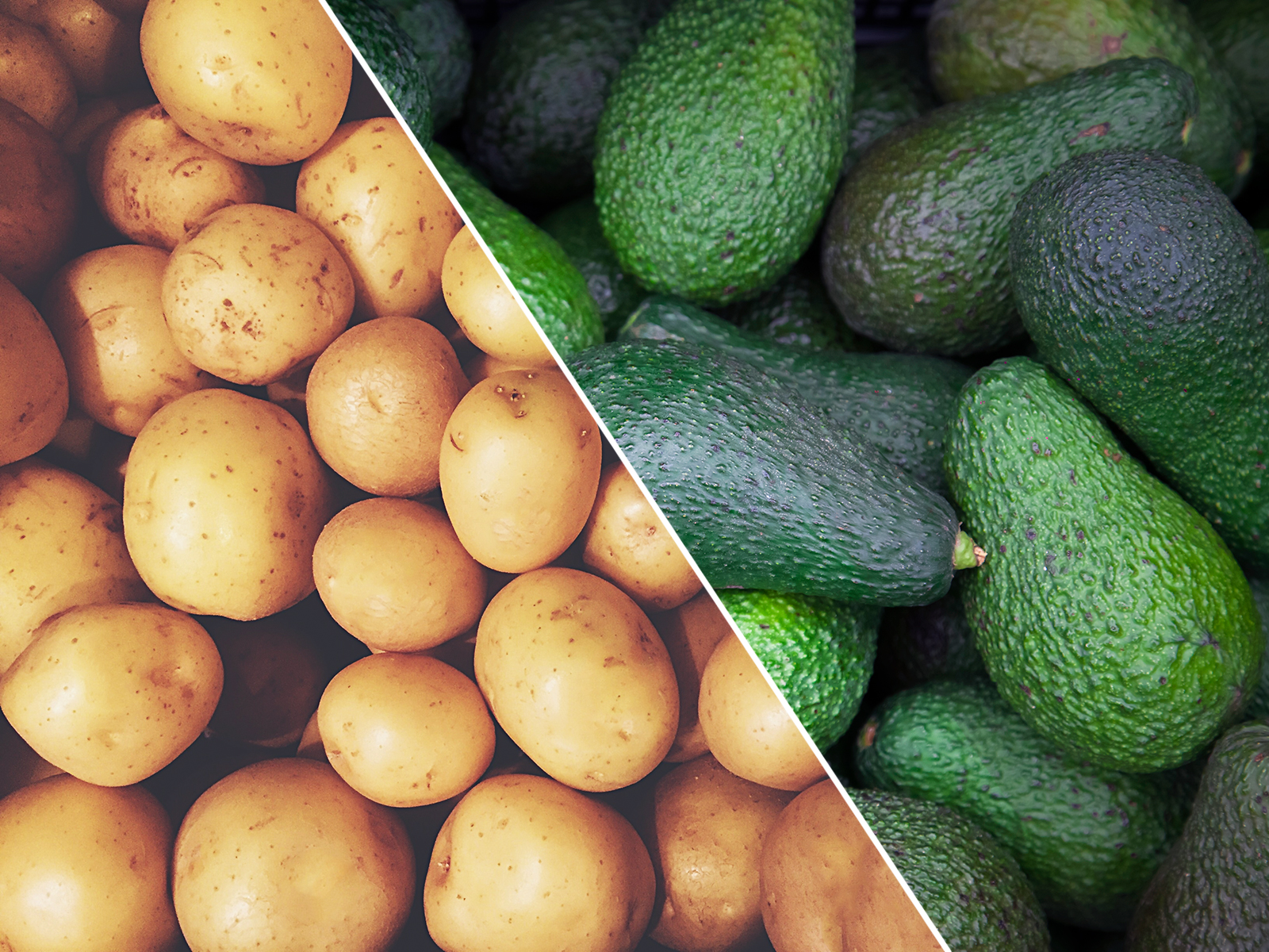 potatoes vs avocados