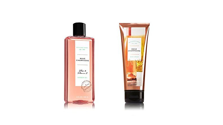 body wash and scrub rose