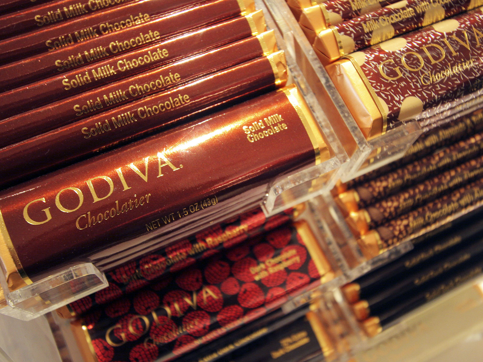 godiva goes mainstream chocolate bar