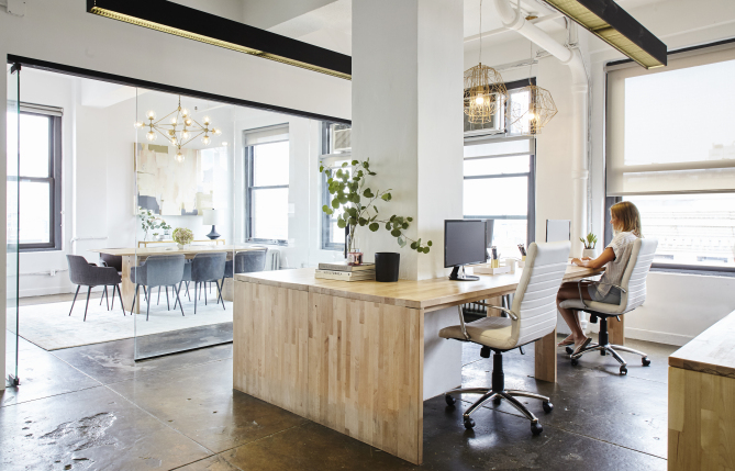 karlie kloss office decorated by homepolish and lulu and georgia photographer: Genevieve Garruppo