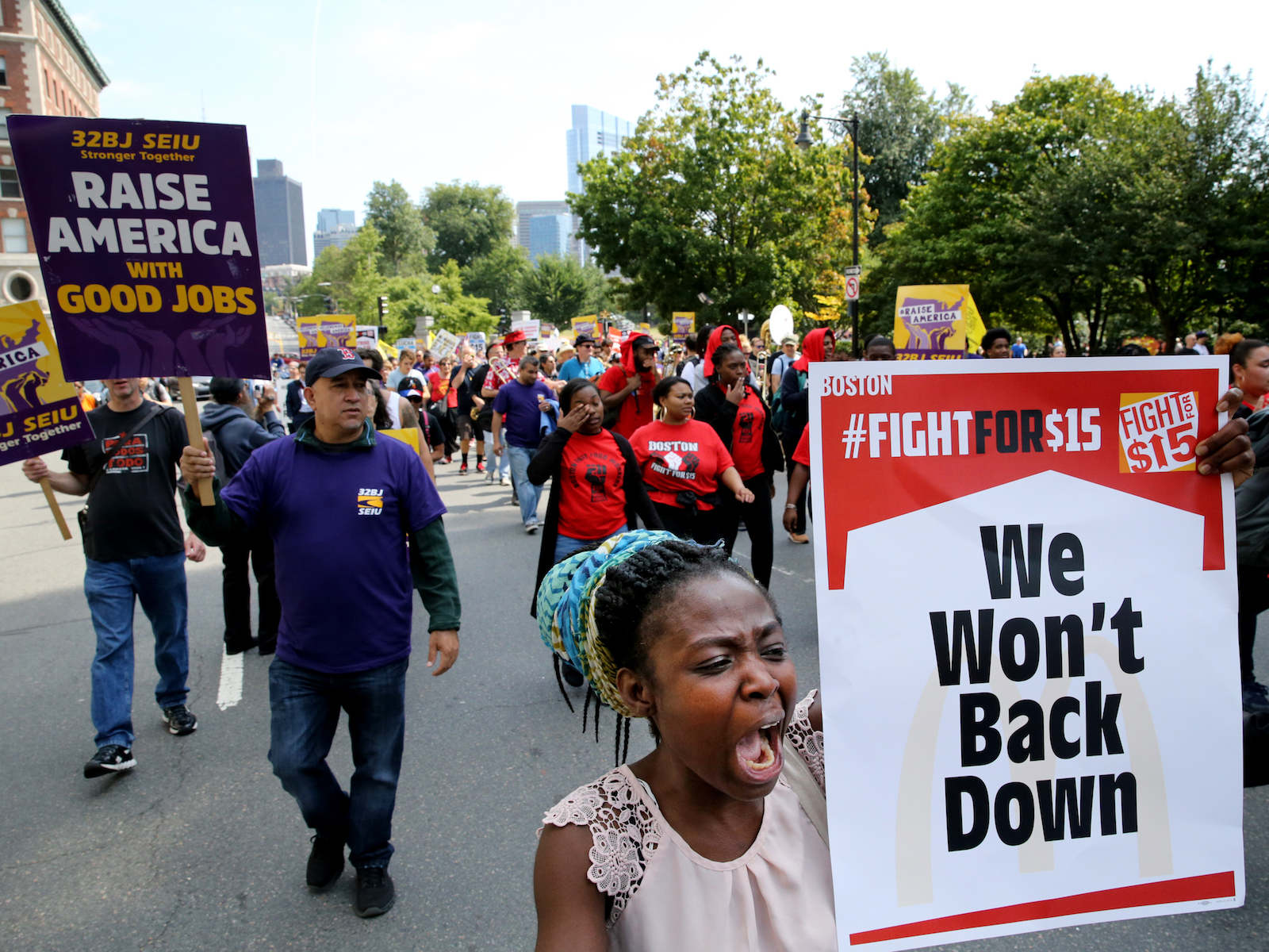 Labor day protests two