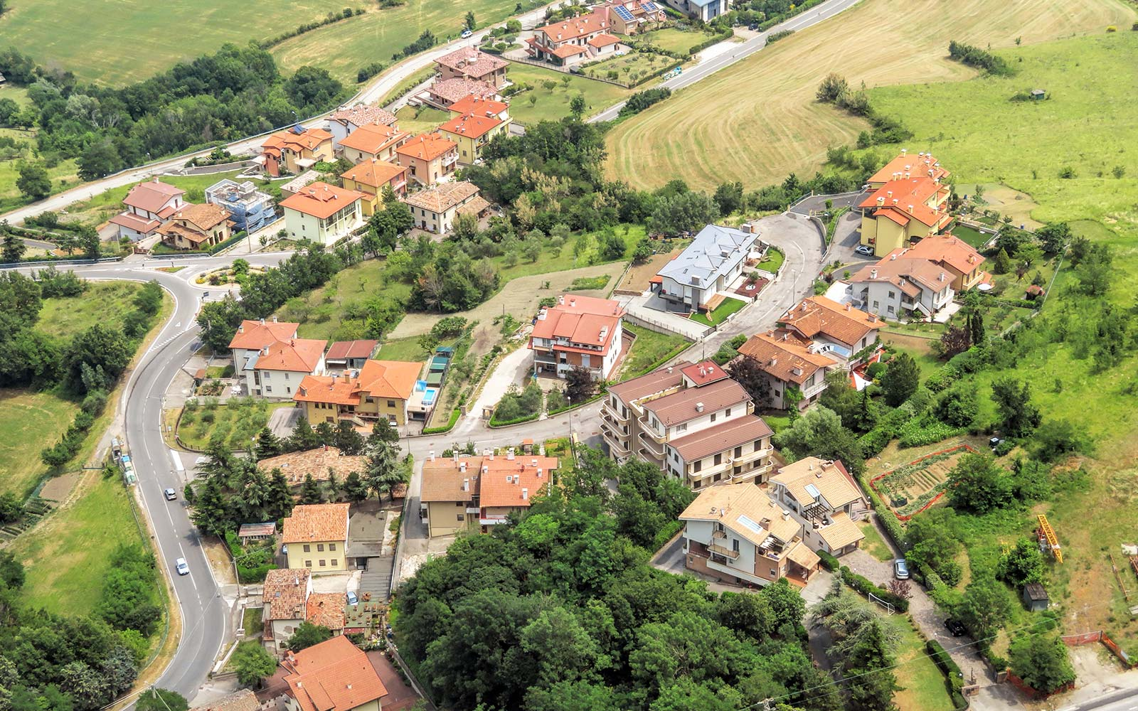 View of the village from the fortress of San Marino