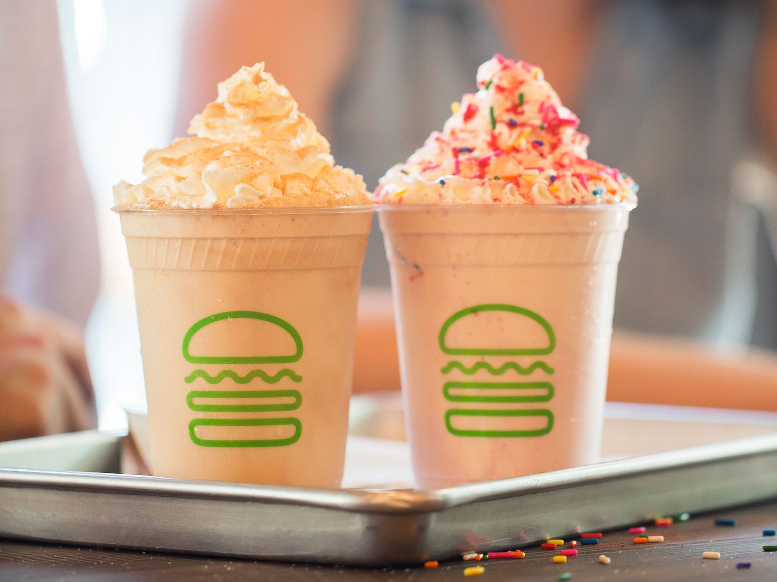 Will & Grace themed shakes at shake shack