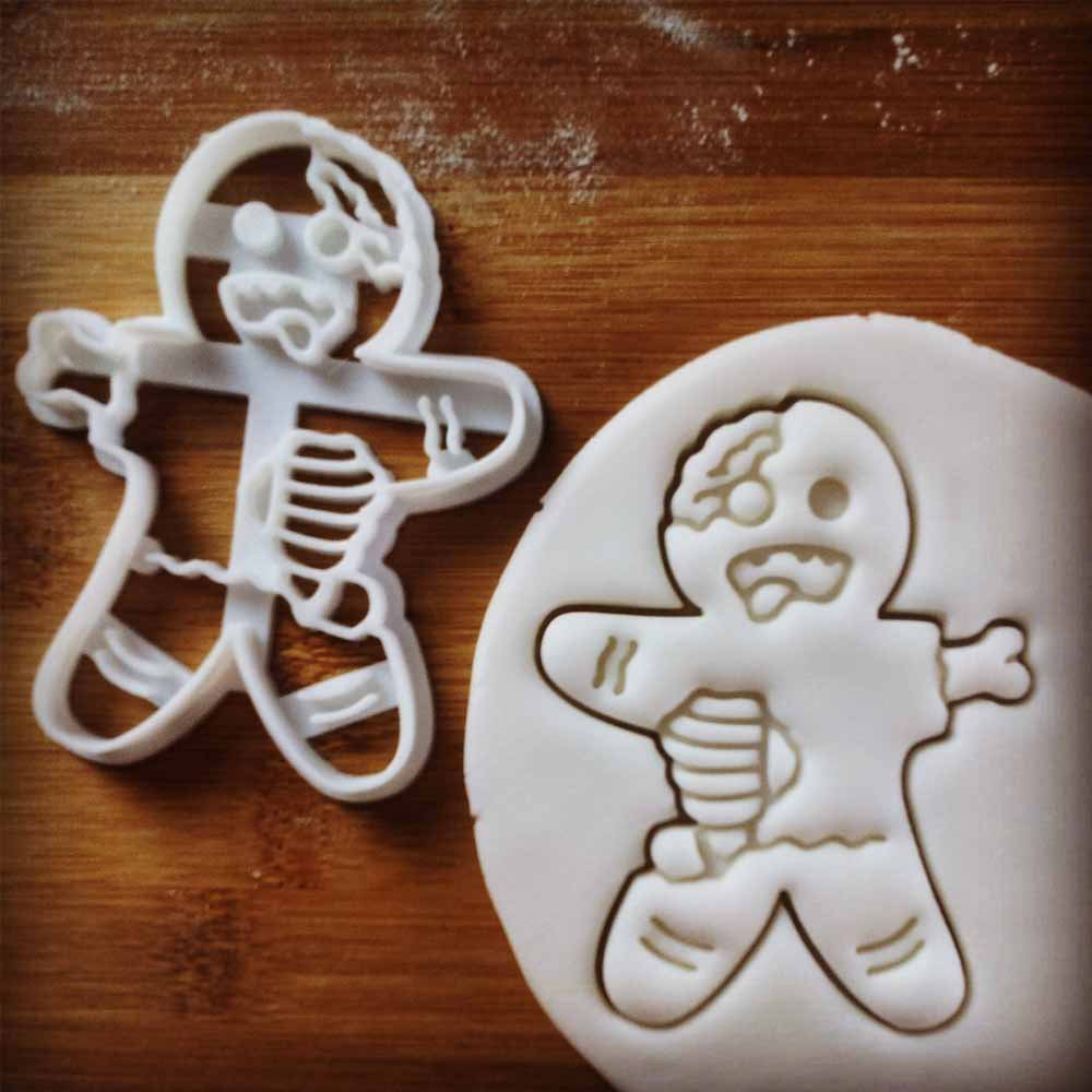 gingerbread men cookie cutters zombie