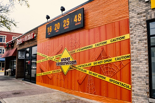 The Reese's Outrageous! countdown clock in Royal Oak, Michigan