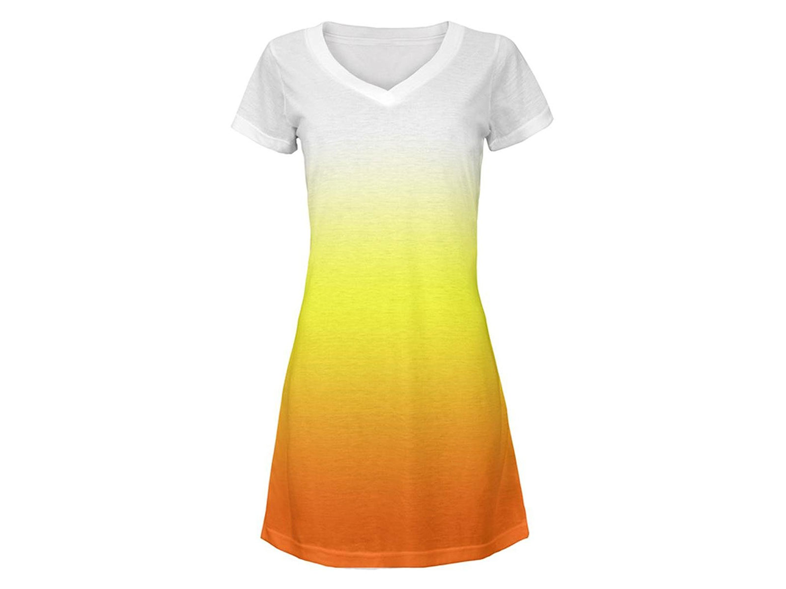 ombre tunic of candy corn colors