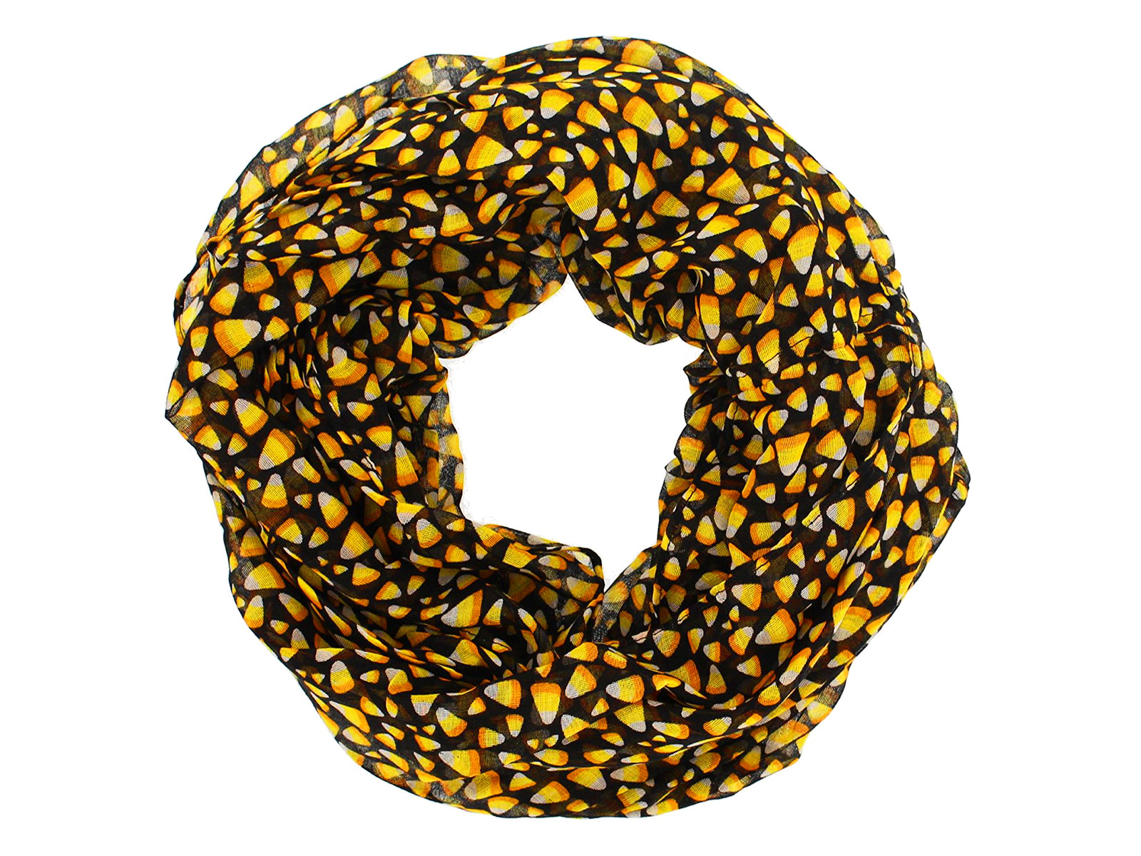 candy corn infinity scarf