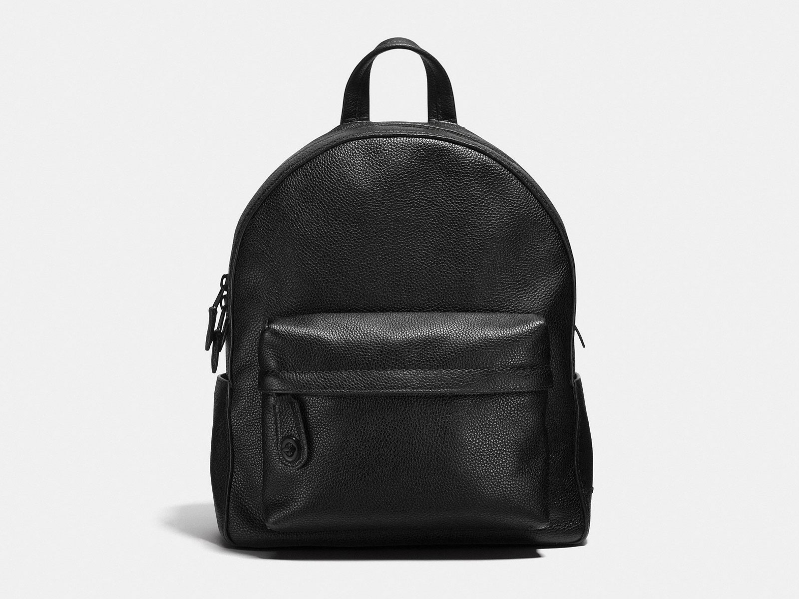 black coach leather backpack