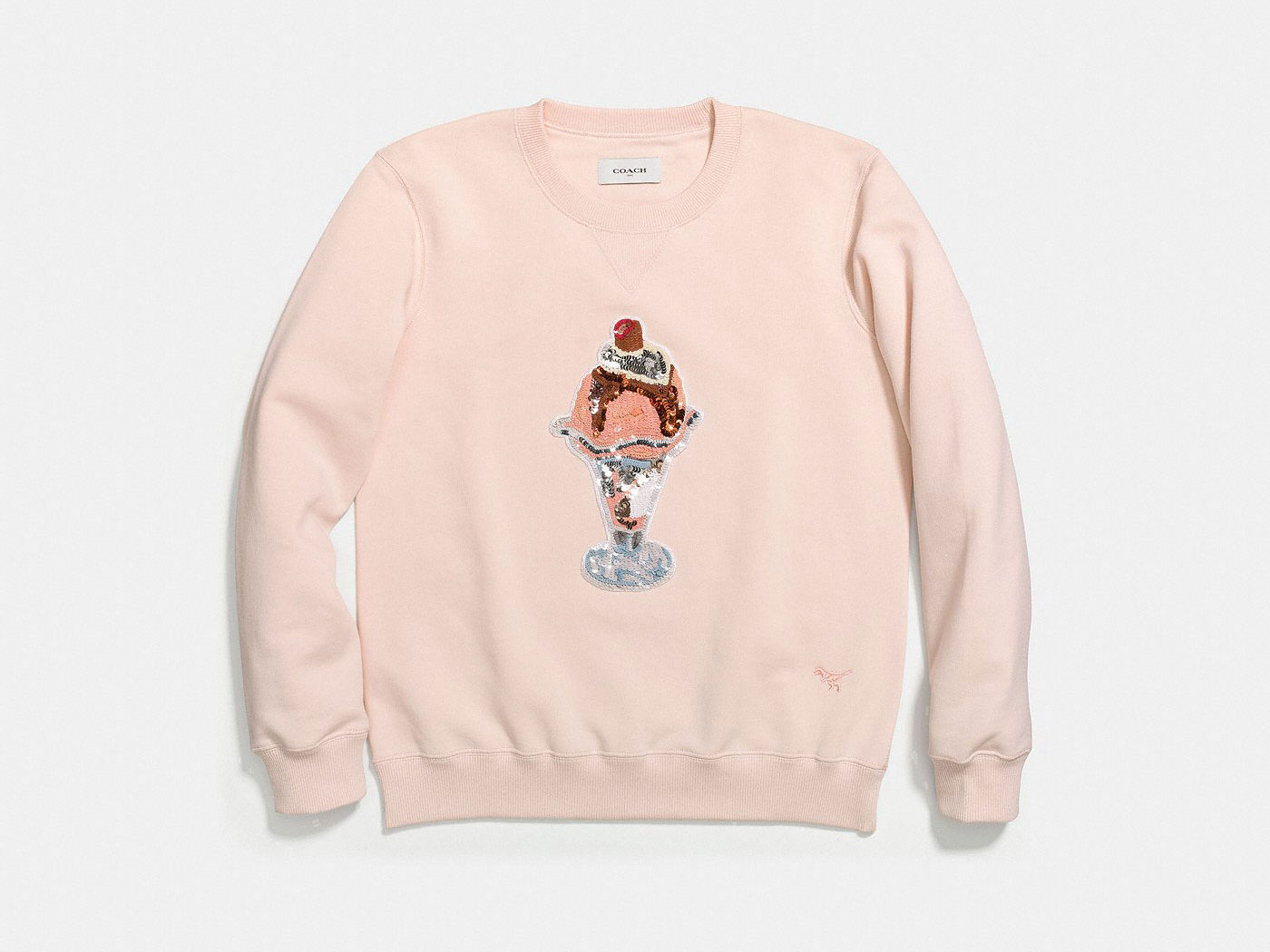 pink coach ice cream sweater
