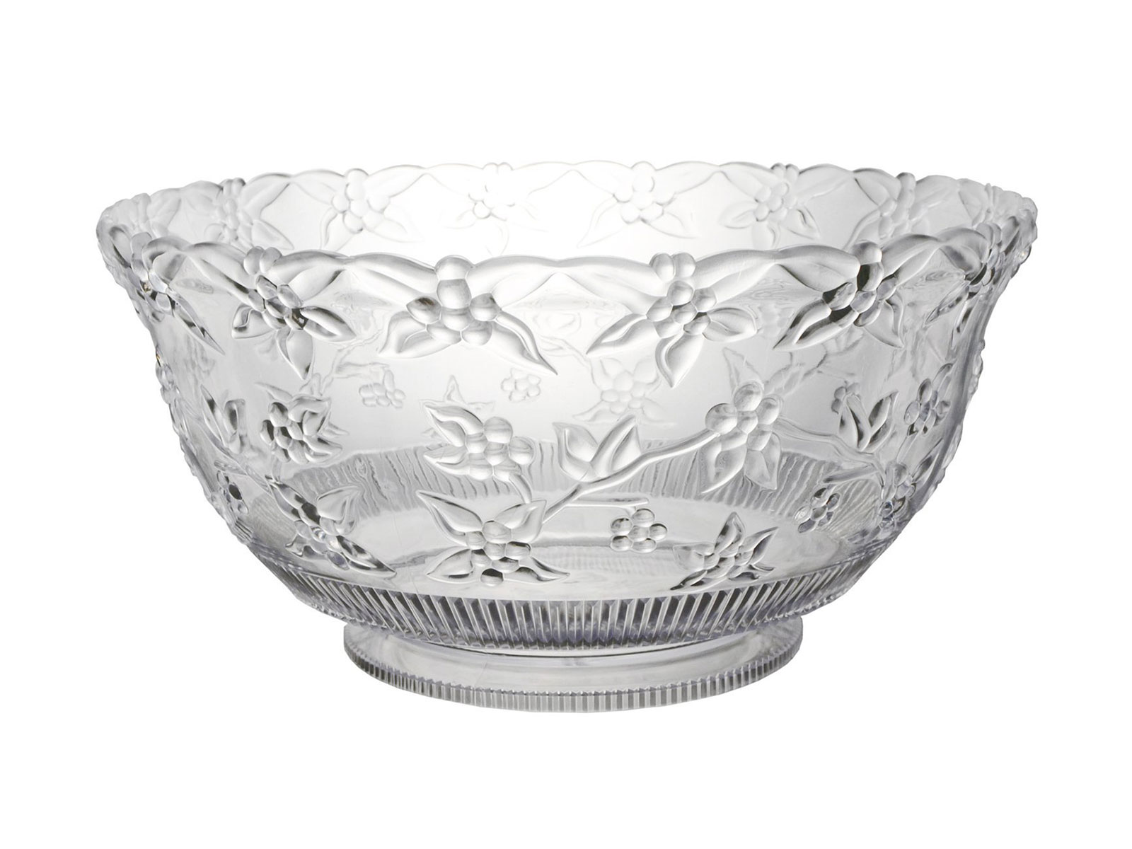 glass detailed punch bowl