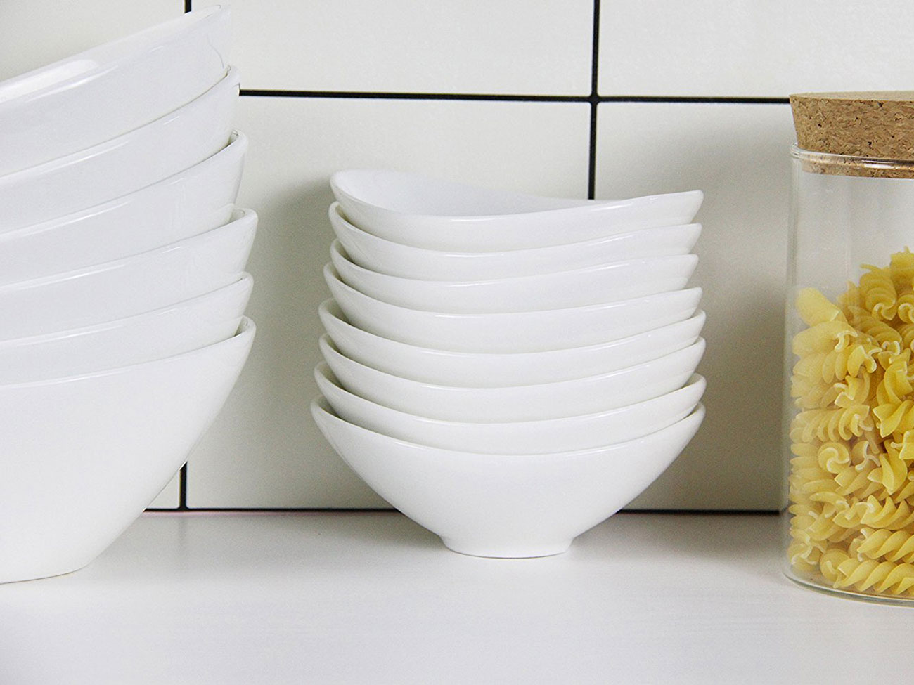 small white dipping sauce bowls