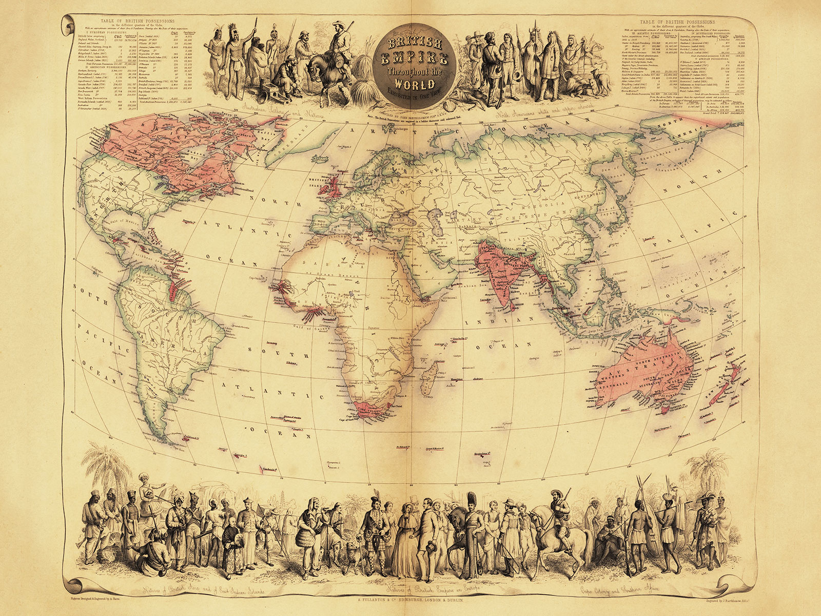 map of the old british empire