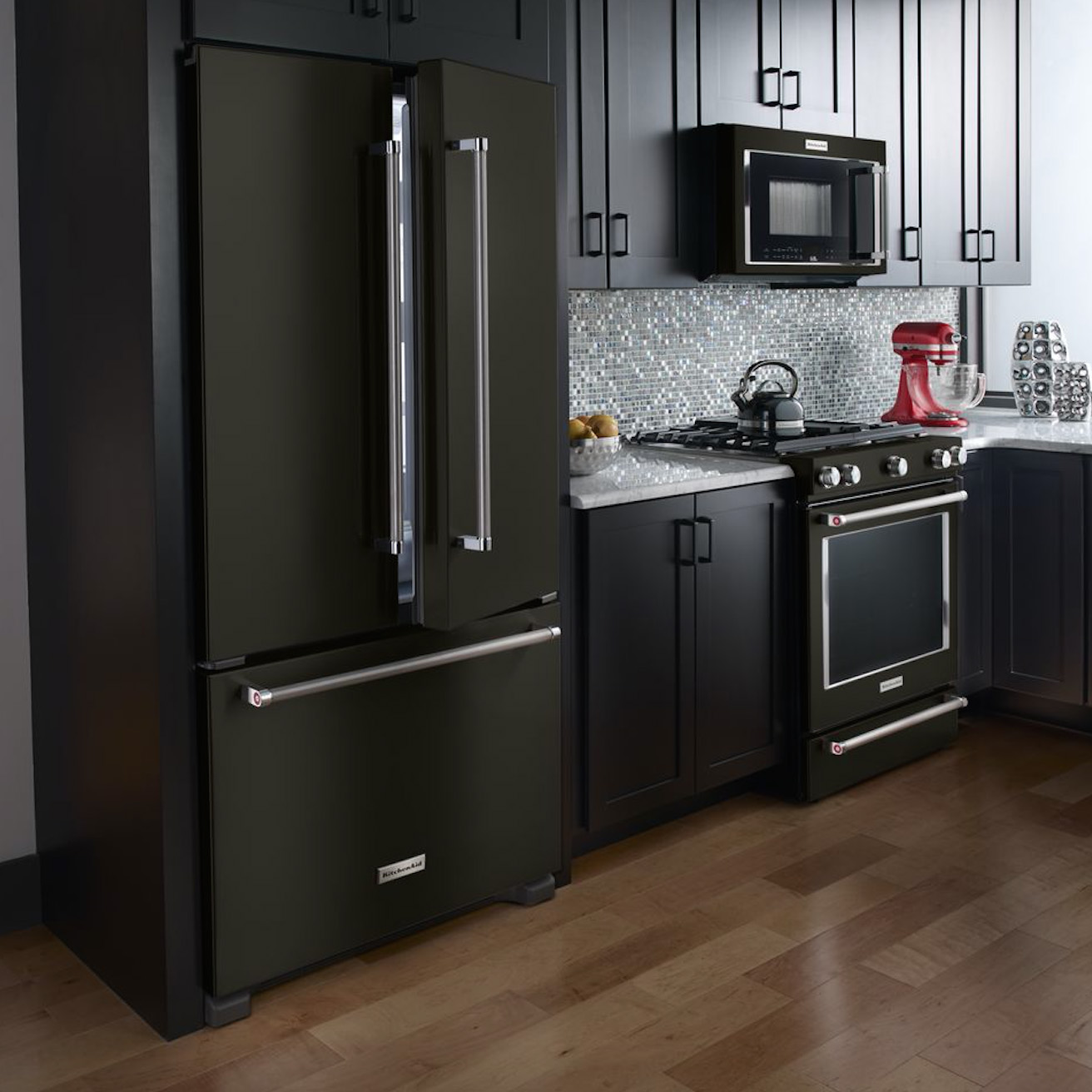Look at These Beautiful Matte Black Major Appliances: Refrigerator, Ranges, Ovens and More