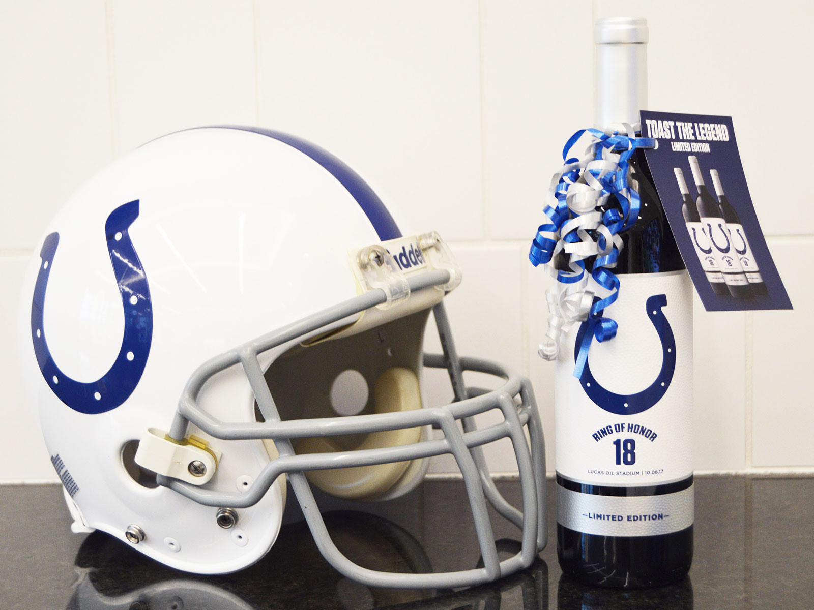colts wine and helmet