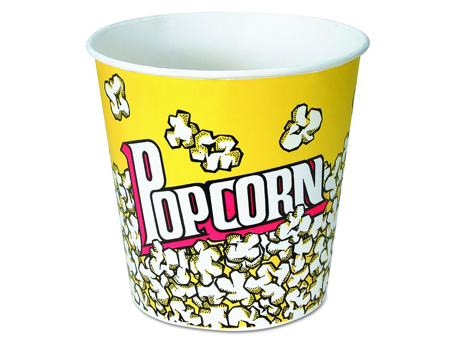 popcorn cup yellow large