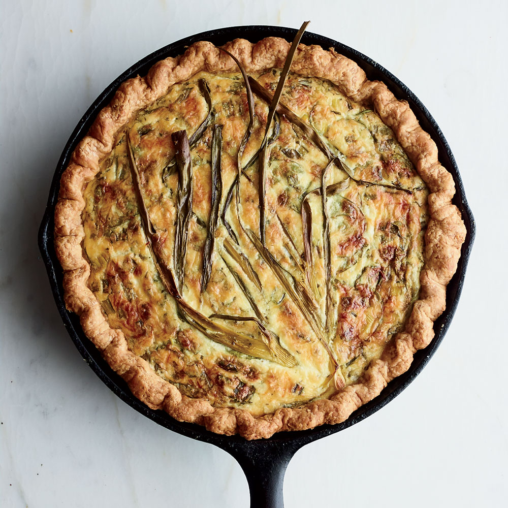 Ricotta and Scallion Egg Pie