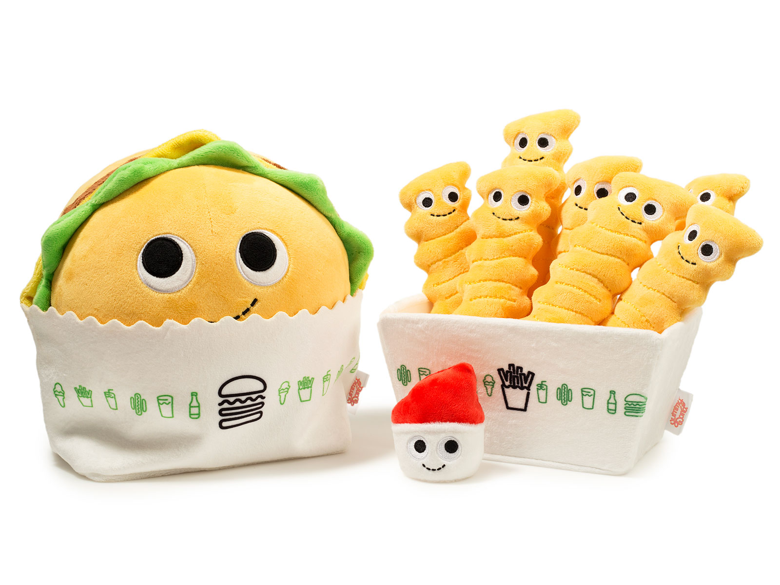 plush burgers and fries shake shack kidrobot