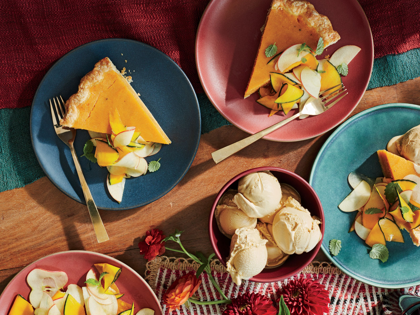 Sweet Potato Pie with Honeycrisp-Kabocha Salad