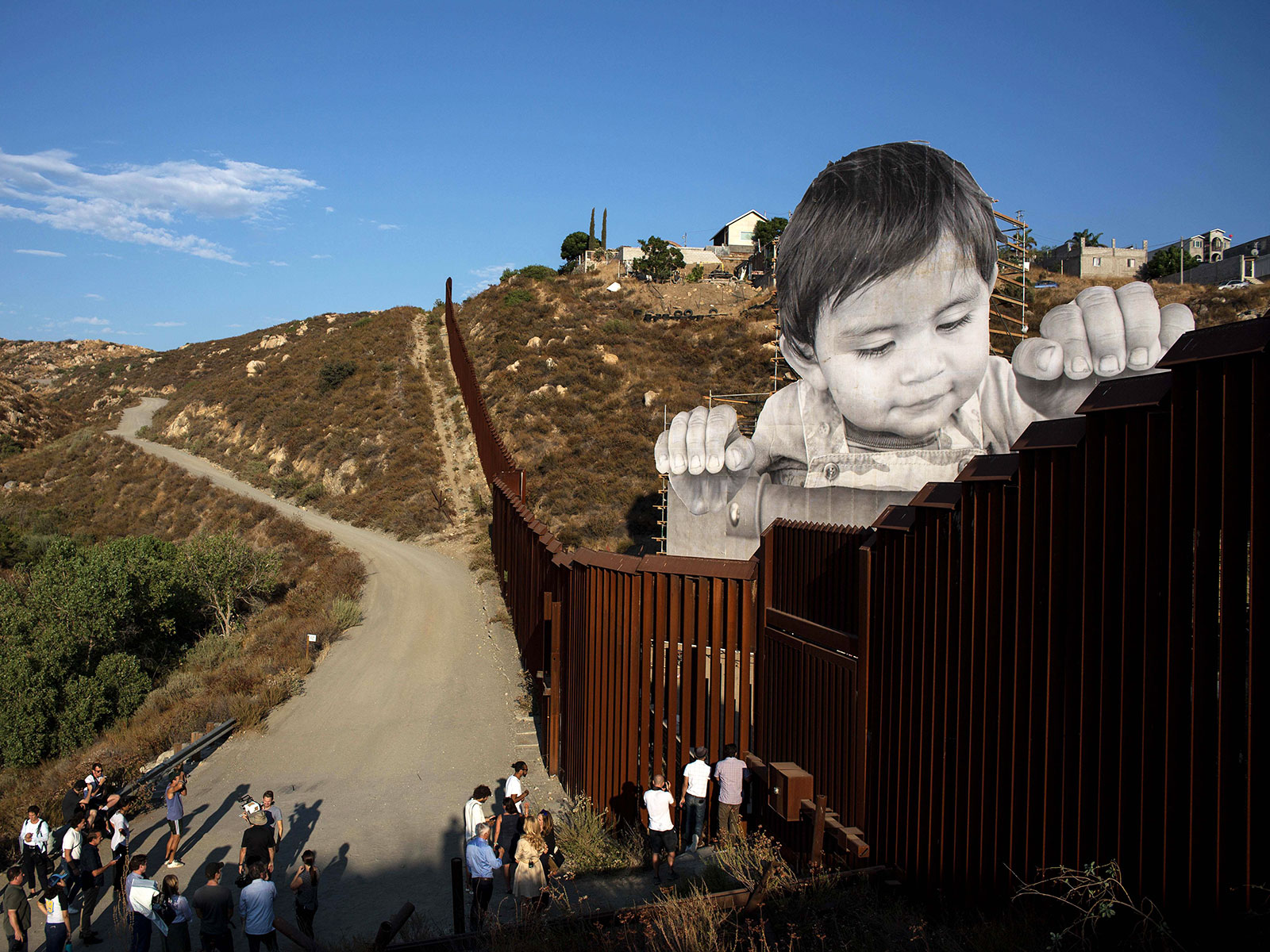 tacate work of art at mexican border