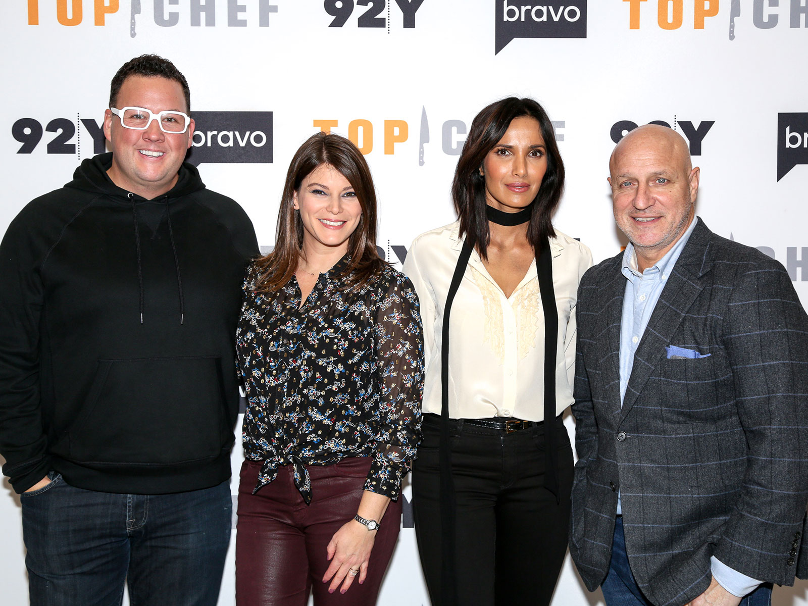 step and repeat background and top chef panel