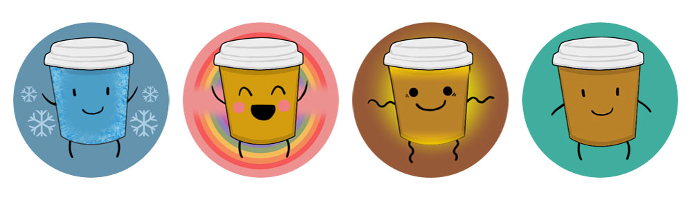 coffee run video game icons