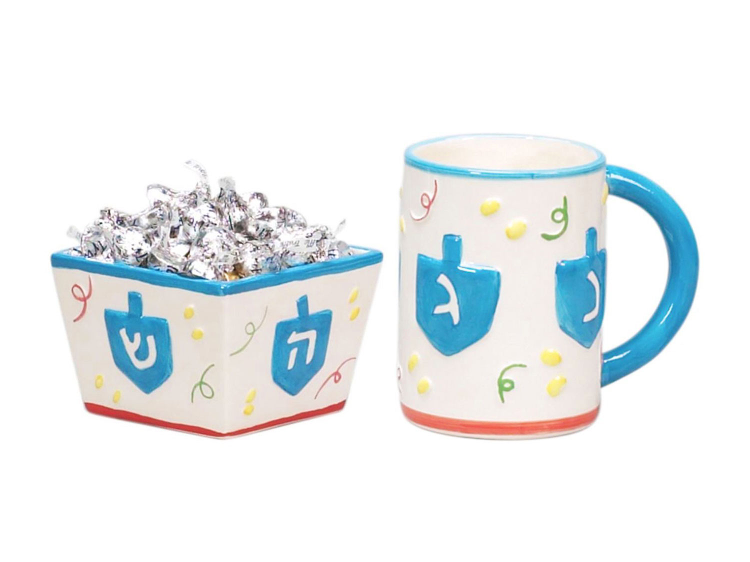 mug and bowl Hanukkah