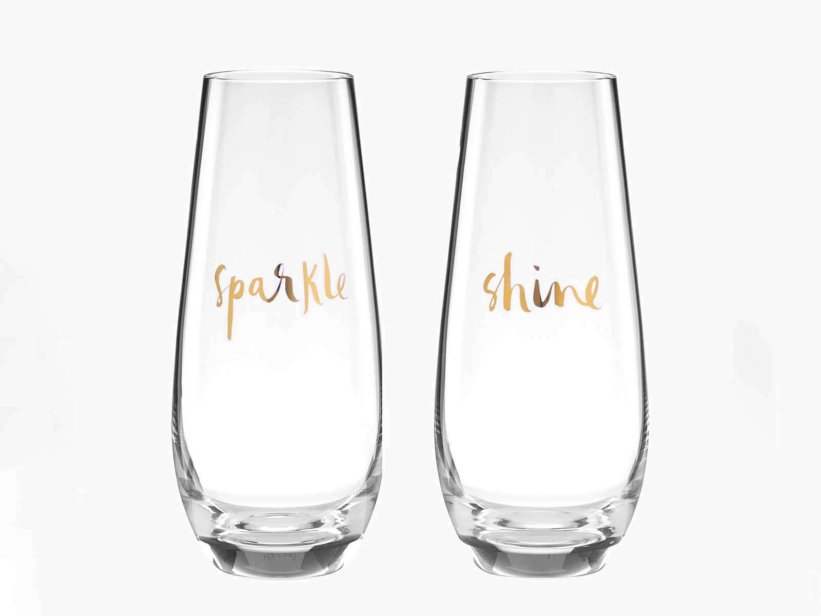 sparkle and shine tall glasses