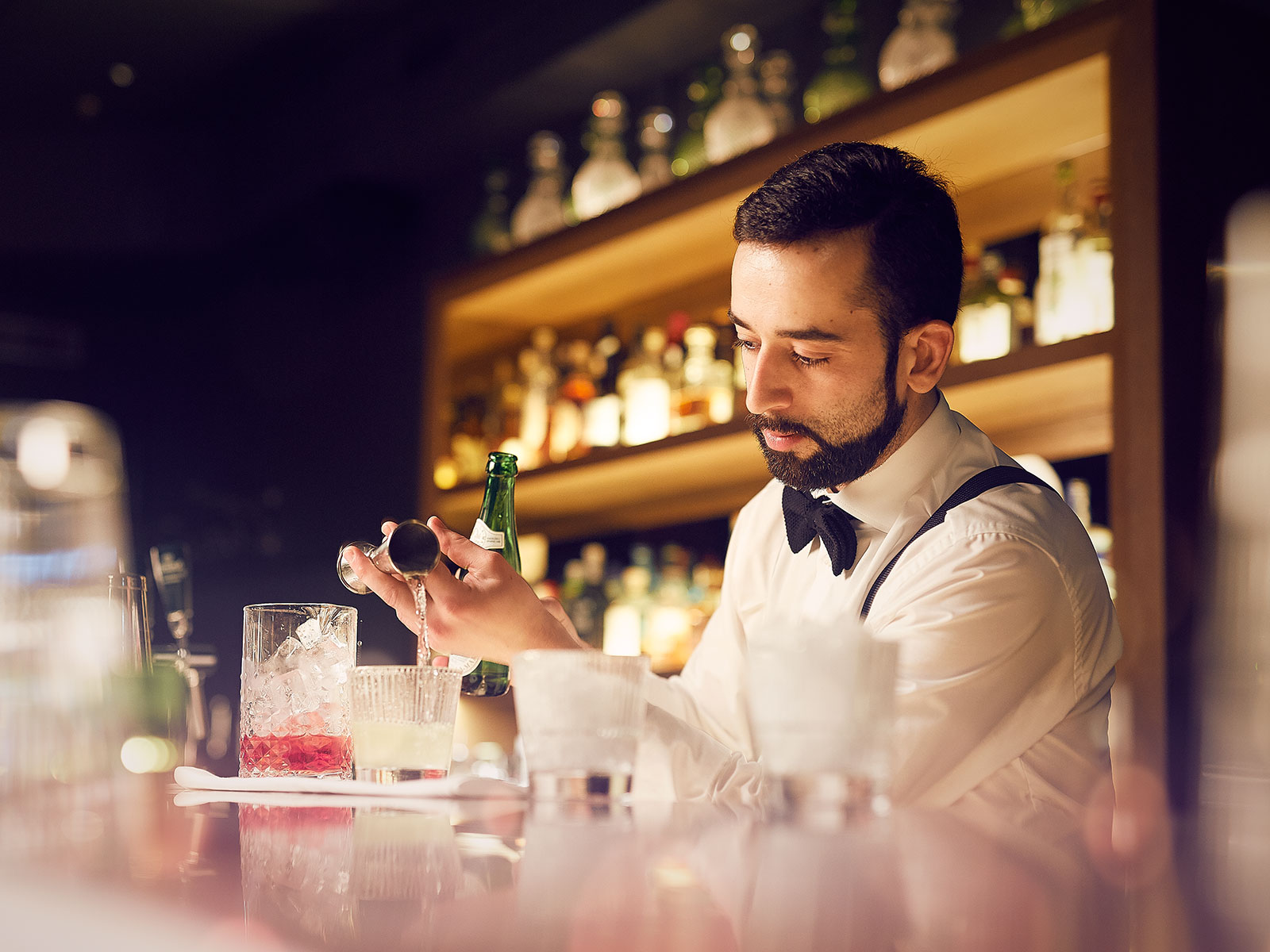 bartender at hotel bar