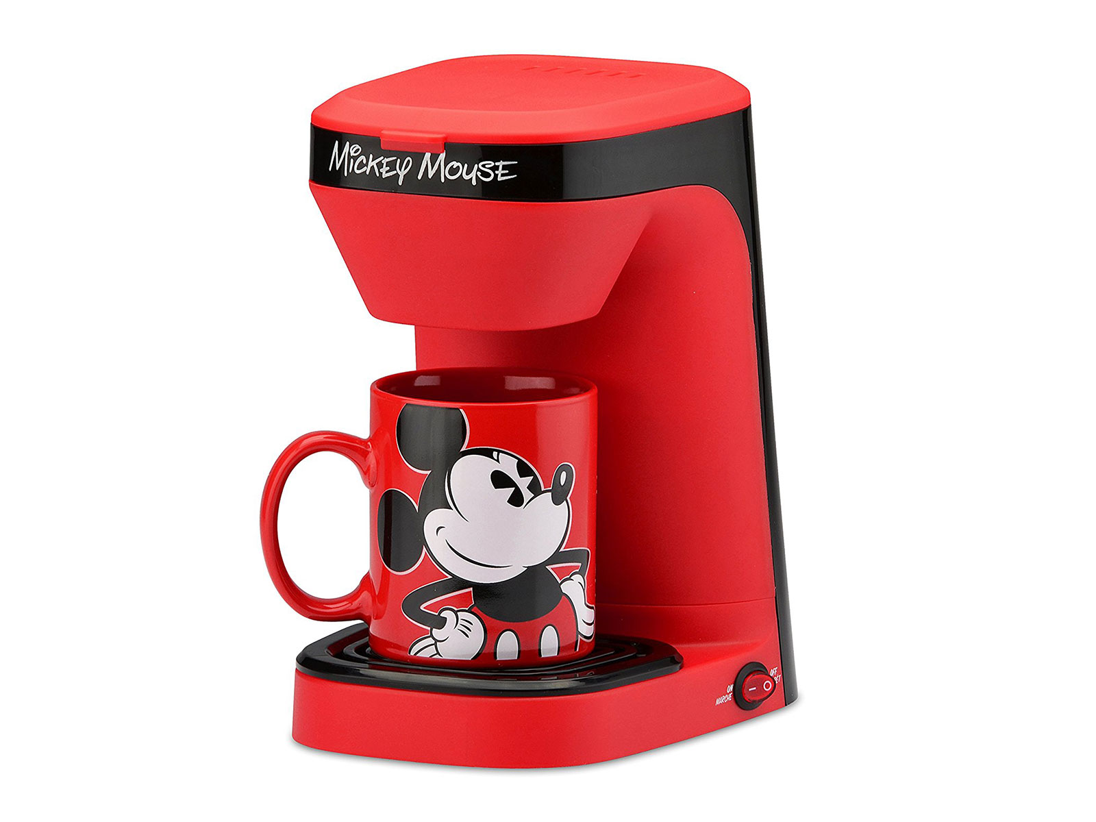 mickey mouse themed coffee machine