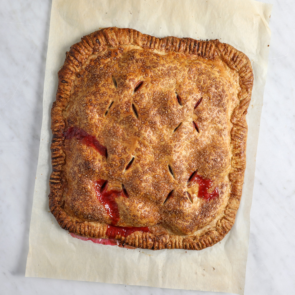 Pear and Cranberry Slab Pie