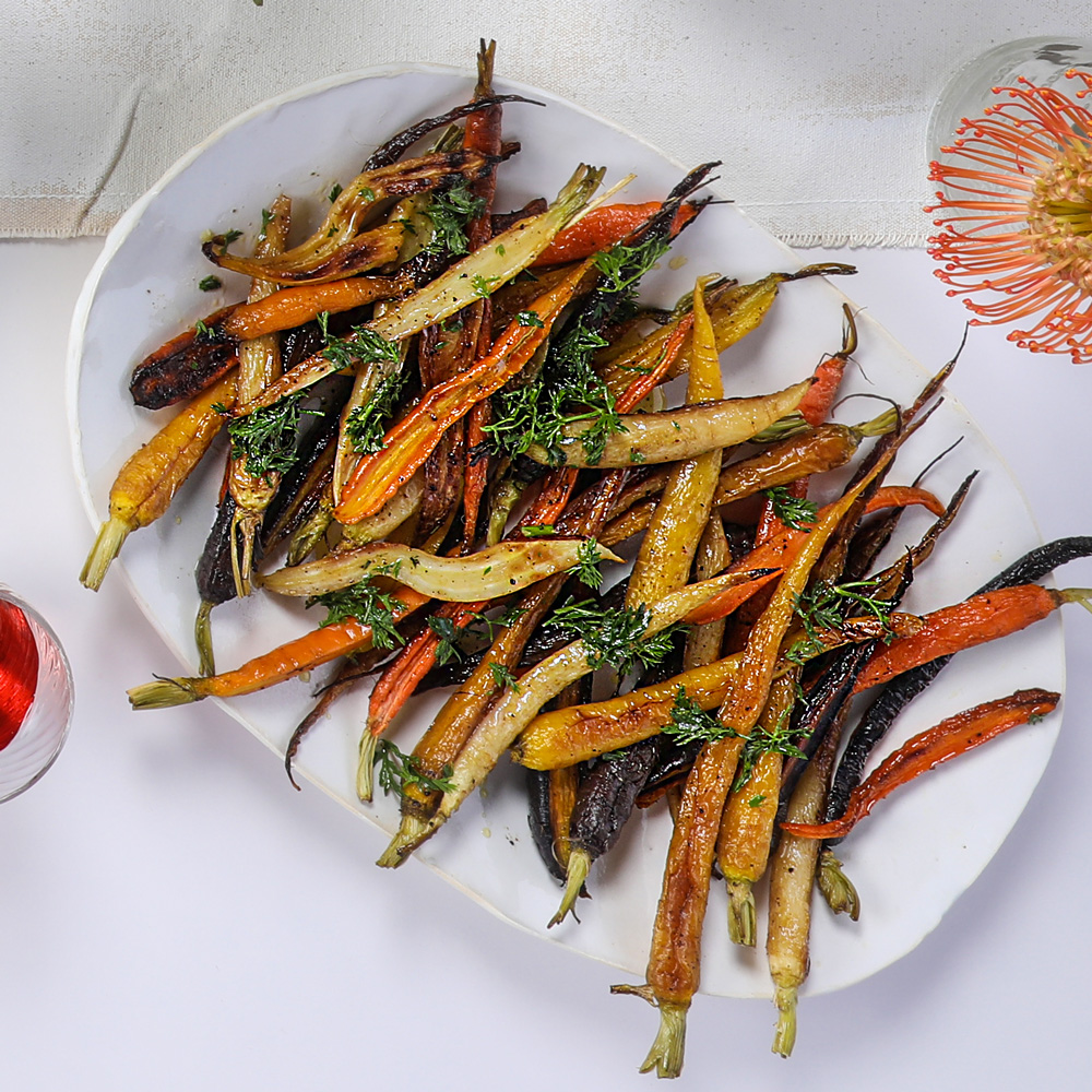 Simple Roast Carrots with Lemon