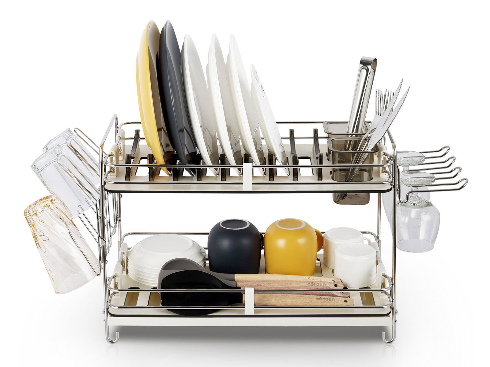 Miusco 2-Tier Dish Rack
