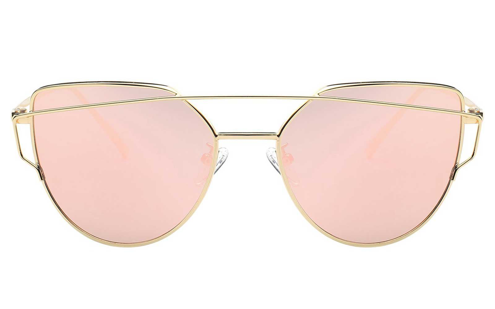 Pink Mirrored Sunglasses