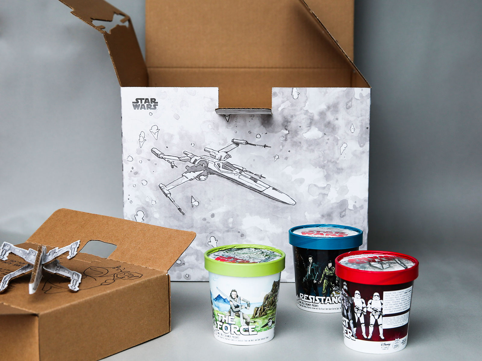 ample hill ice cream star wars packaging