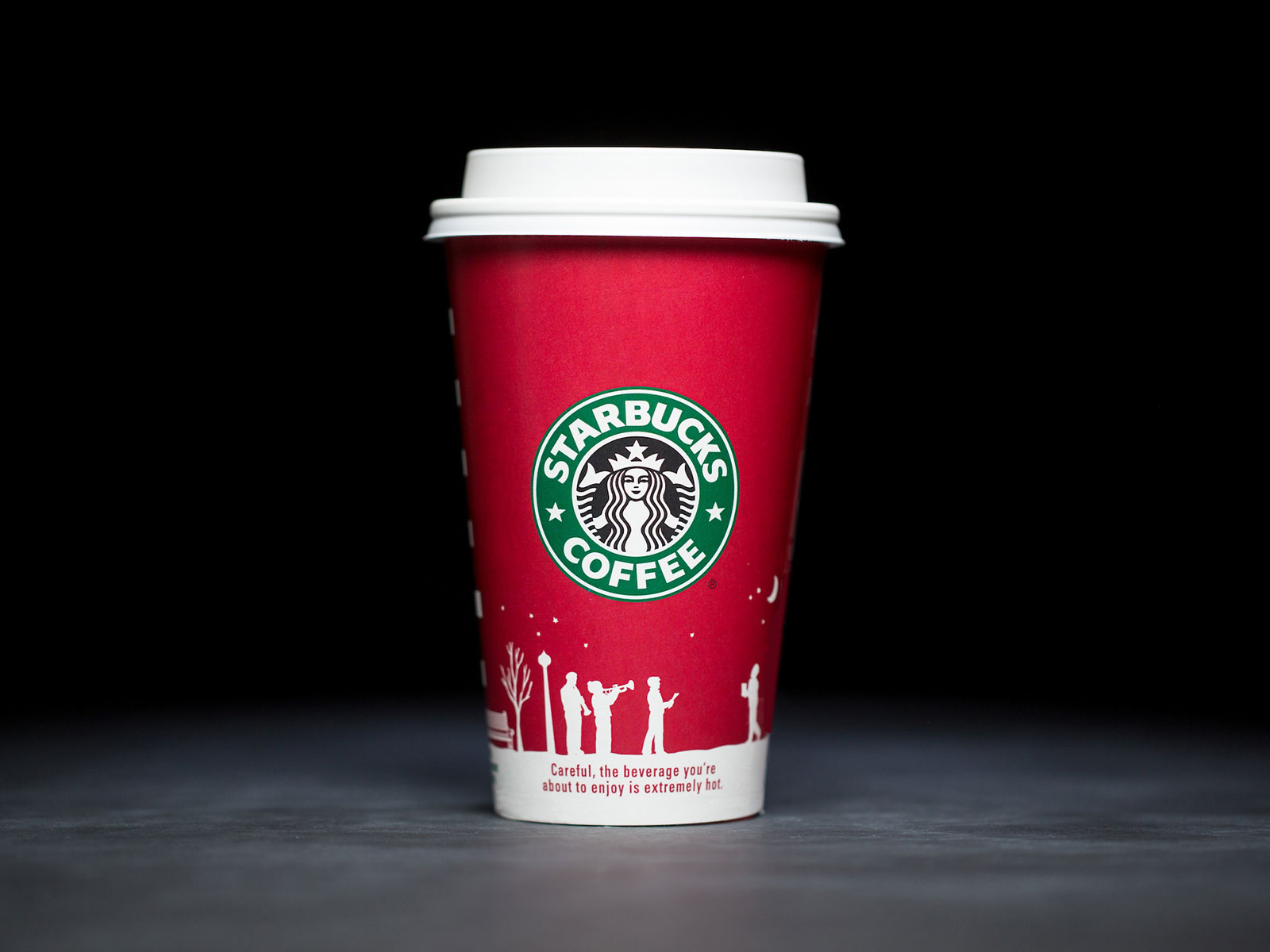 negative space image holiday cup