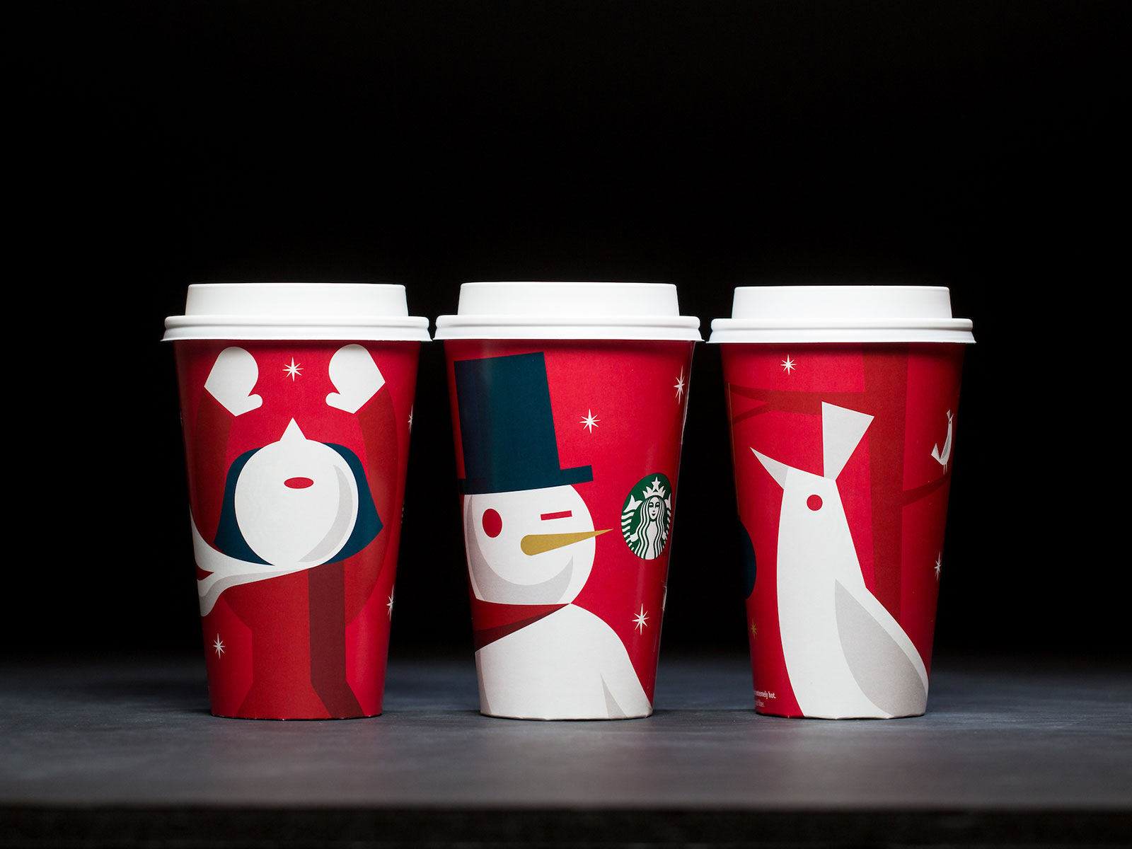 snowman for holiday cups
