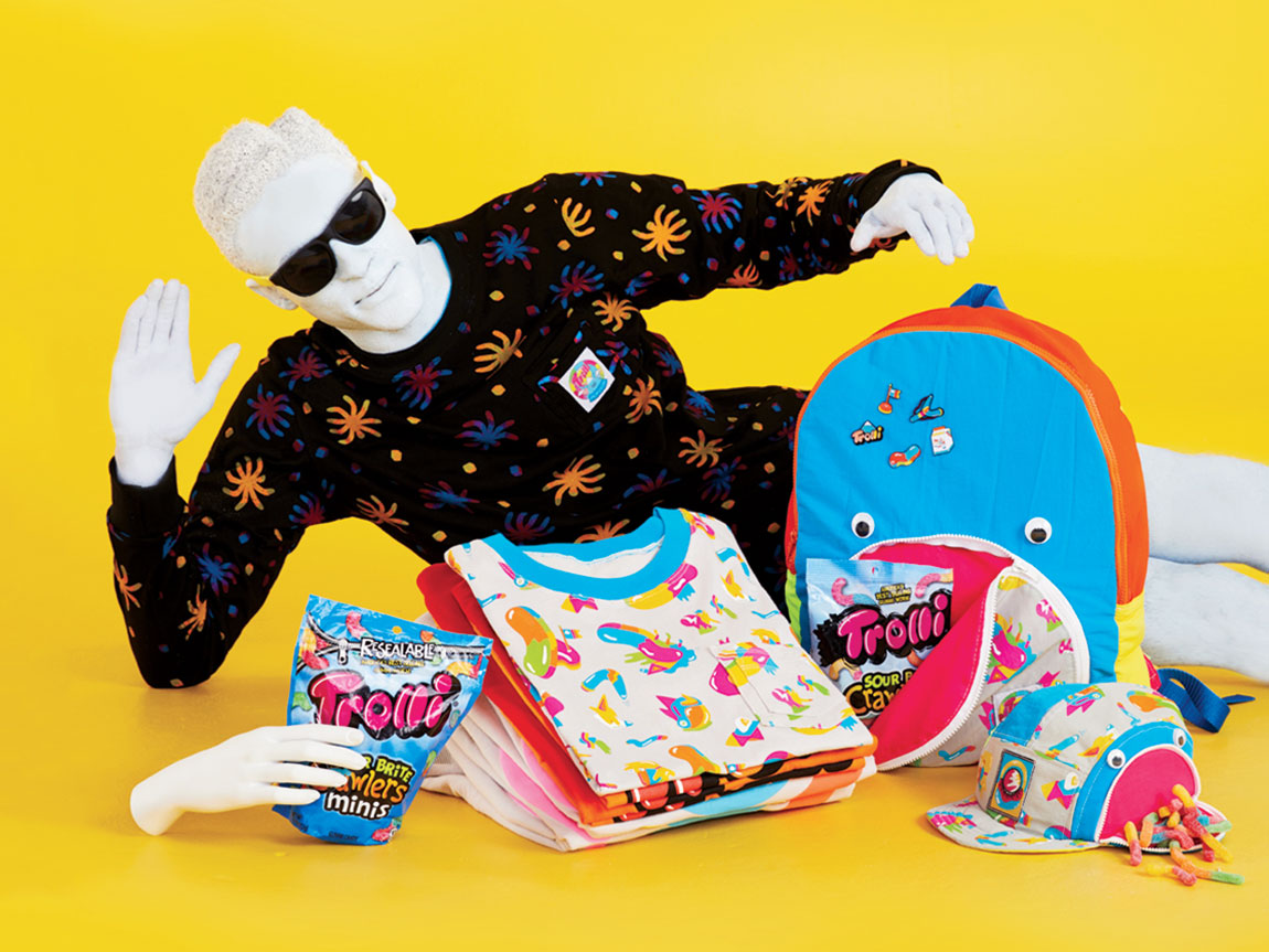 trolli sour candy clothing line