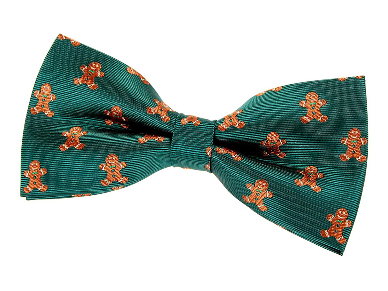 green bowtie with gingerbread men