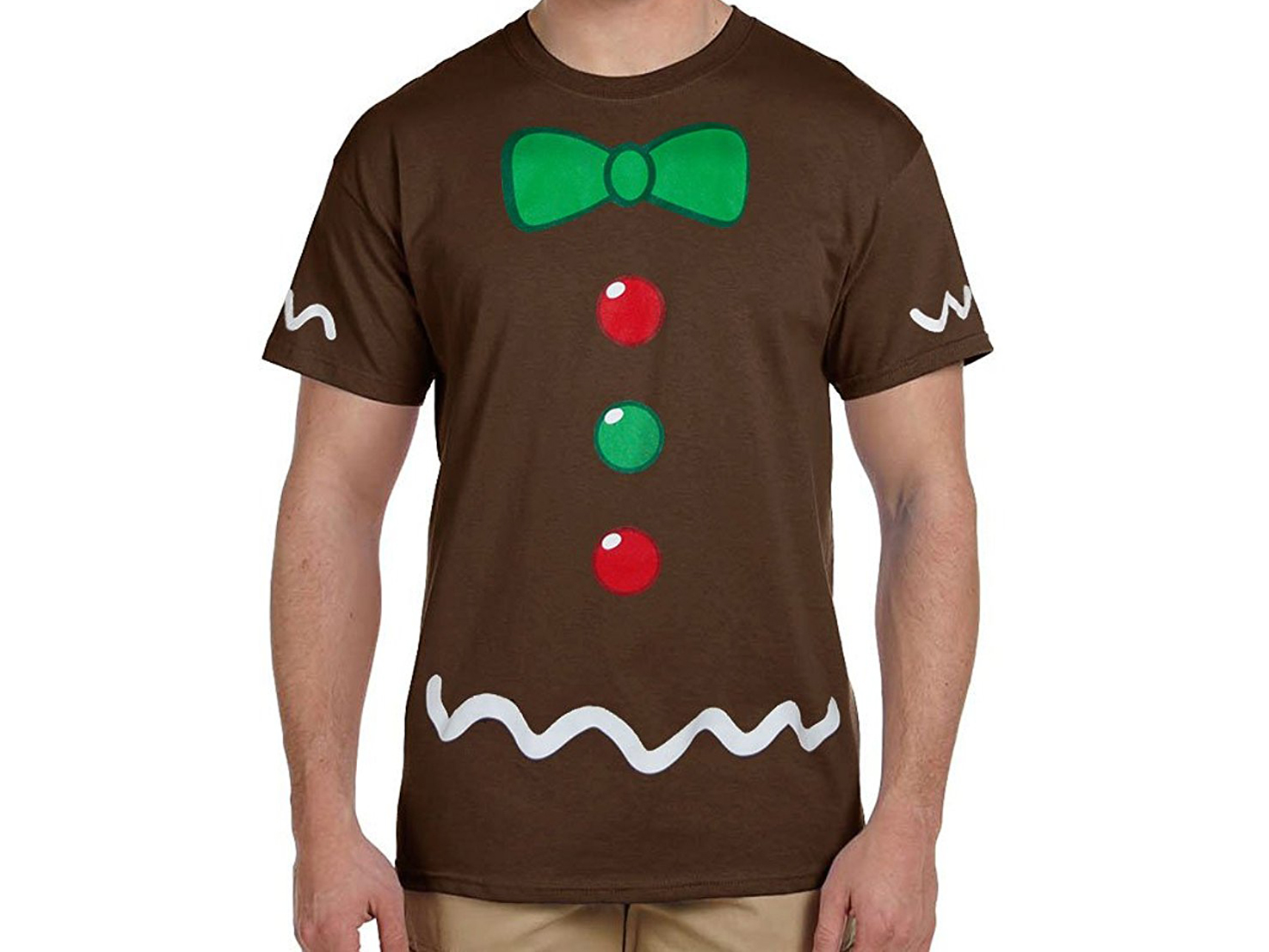 gingerbread man t shirt for men