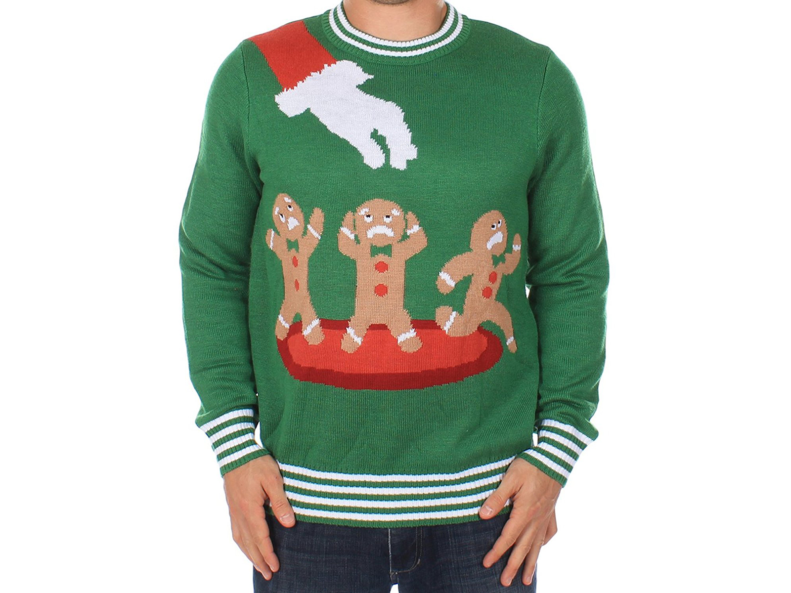 Gingerbread Nightmare Ugly Christmas Sweater by Tipsy Elves