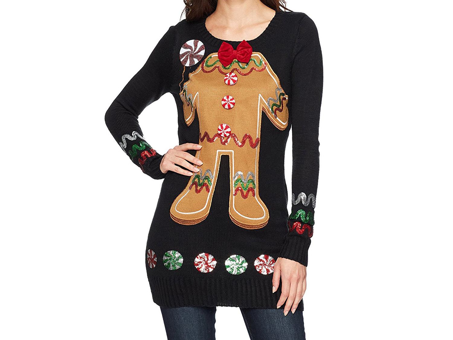 cute gingerbread sweater for women
